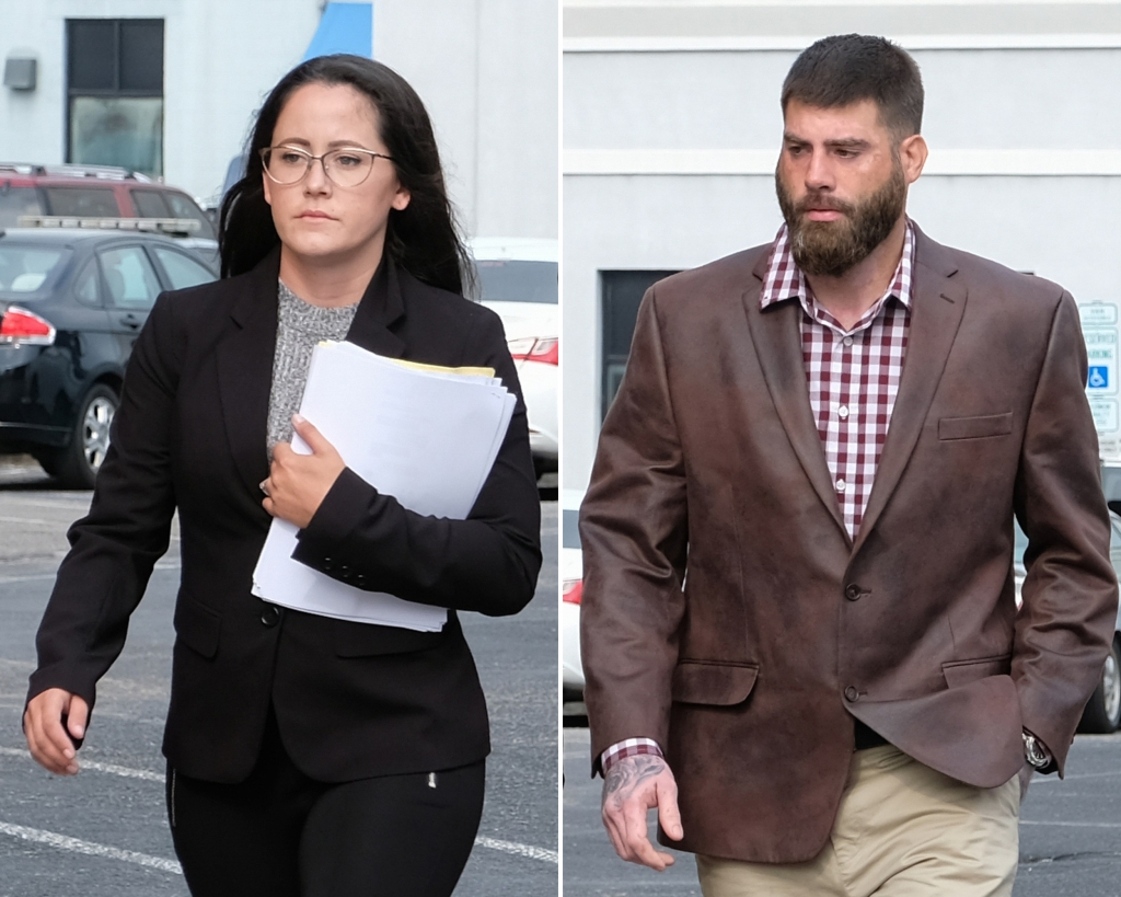 Side-by-Side Photos of Jenelle Evans and David Eason Walking