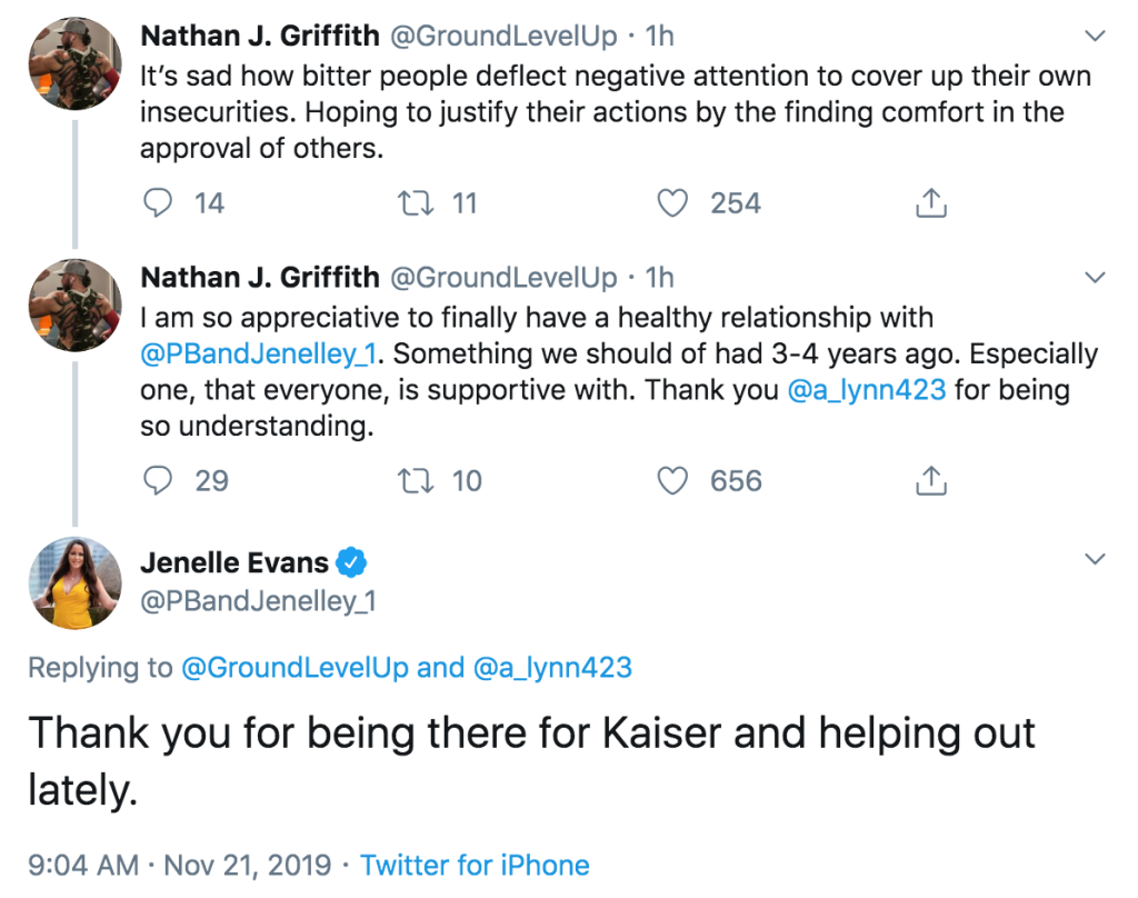 Jenelle Evans and Nathan Griffith Tweet They Finally Have a Healthy Relationship
