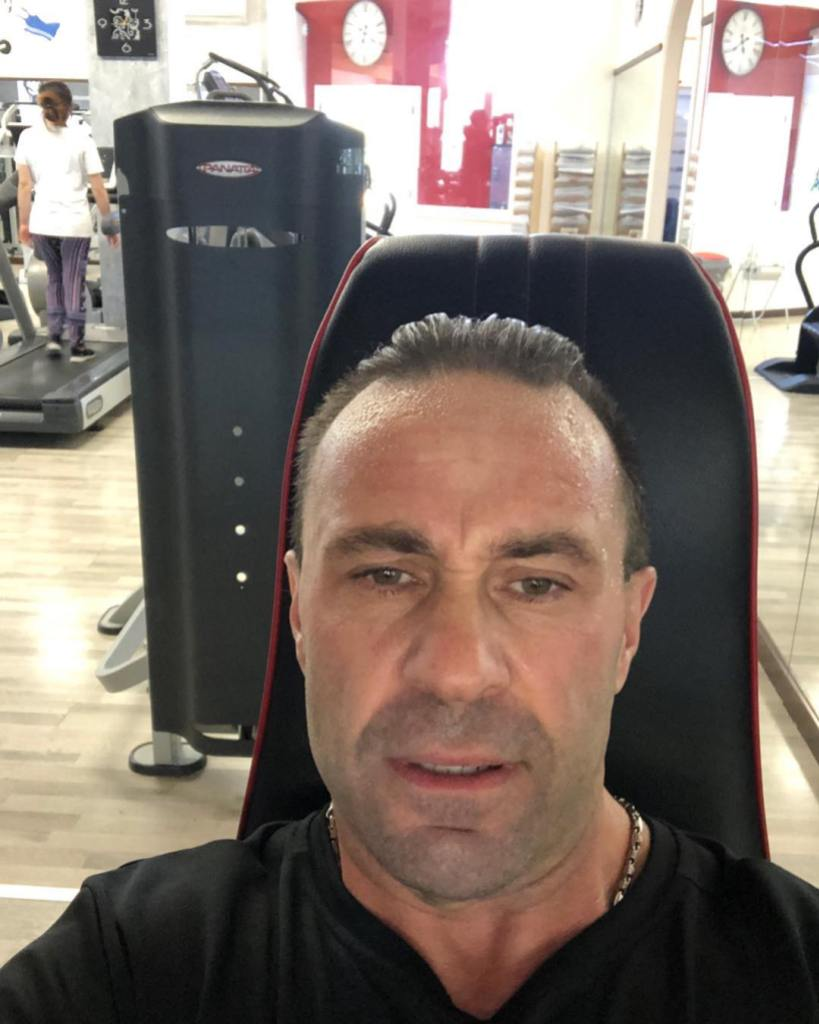 Joe Giudice Working Out at the Gym