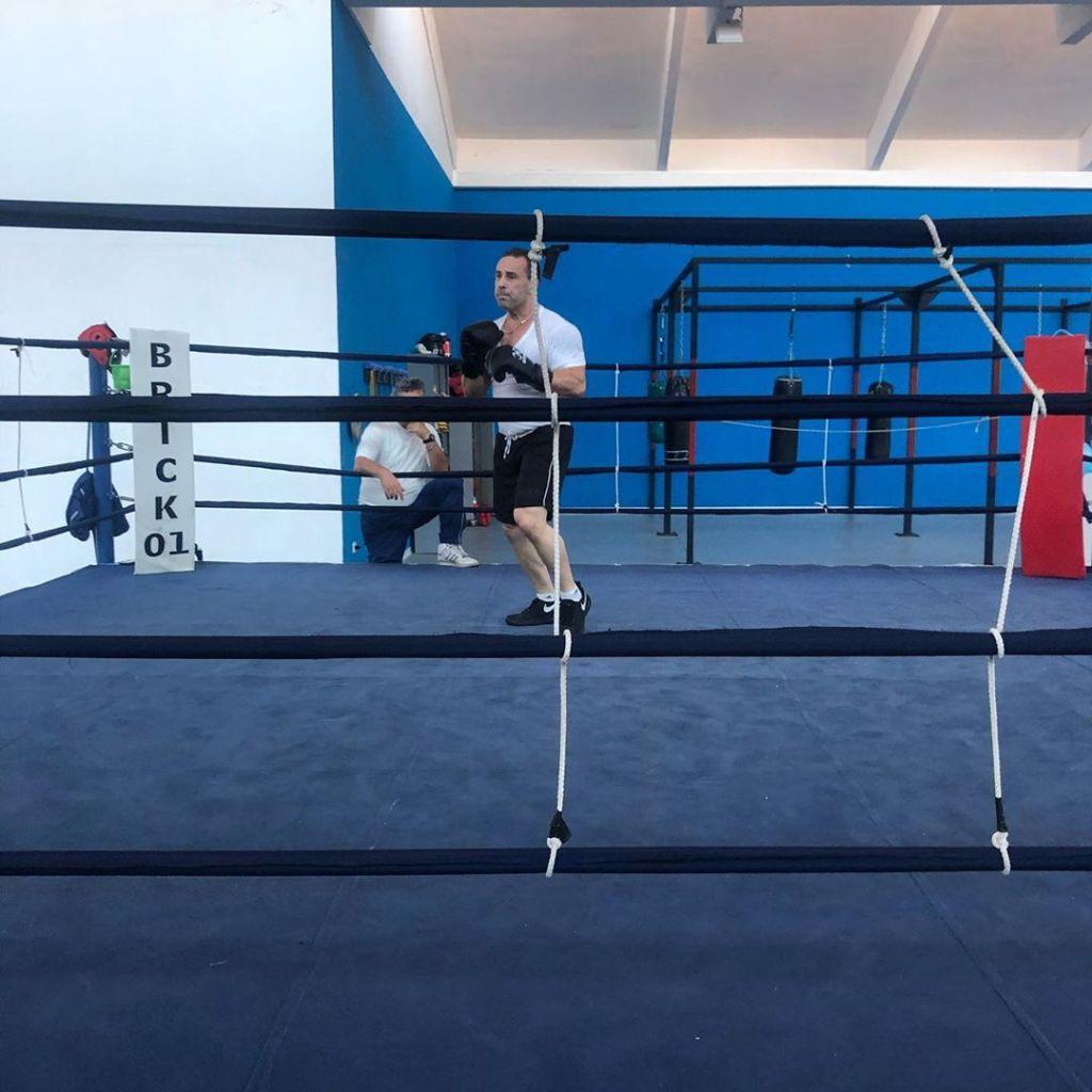 Joe Giudice Training in the Ring in Italy