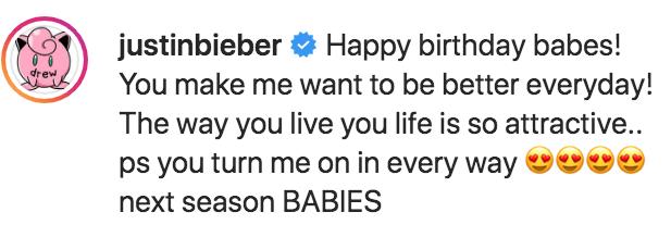 Justin Bieber Hints Babies in Happy Birthday Post to Hailey Baldwin