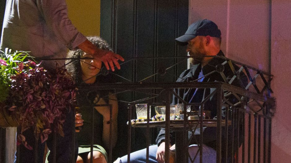 Justin Timberlake Out on the Town on Alisha Wainwright