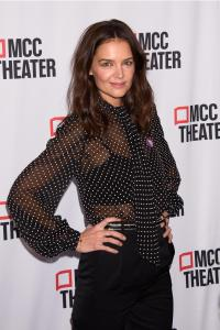 Katie Holmes Wearing a Sheer Top on a Red Carpet