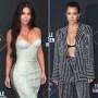 Kim Kardashian Interrupts Sister Kourtney During Red Carpet Interview