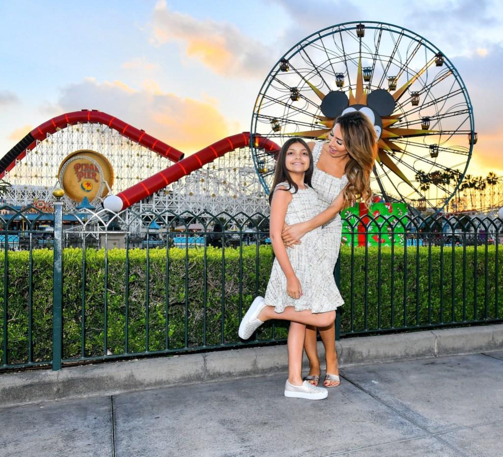 EXCLUSIVE: Farrah Abraham meets Santa Clause with daughter Sophia at Disneyland in Anaheim, CA