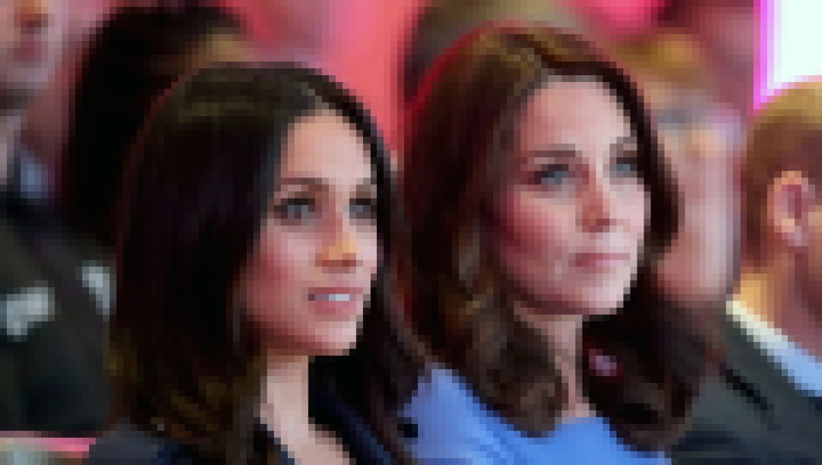 Kate Middleton and Meghan Markle Both Wearing Blue