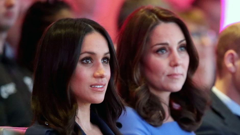 Kate Middleton and Meghan Markle Both Wearing Blue