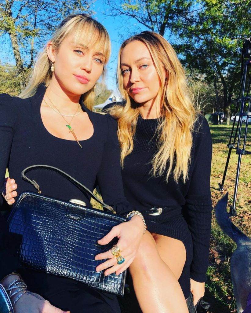 Miley Cyrus With Brandi Cyrus at a Wedding in Tennessee
