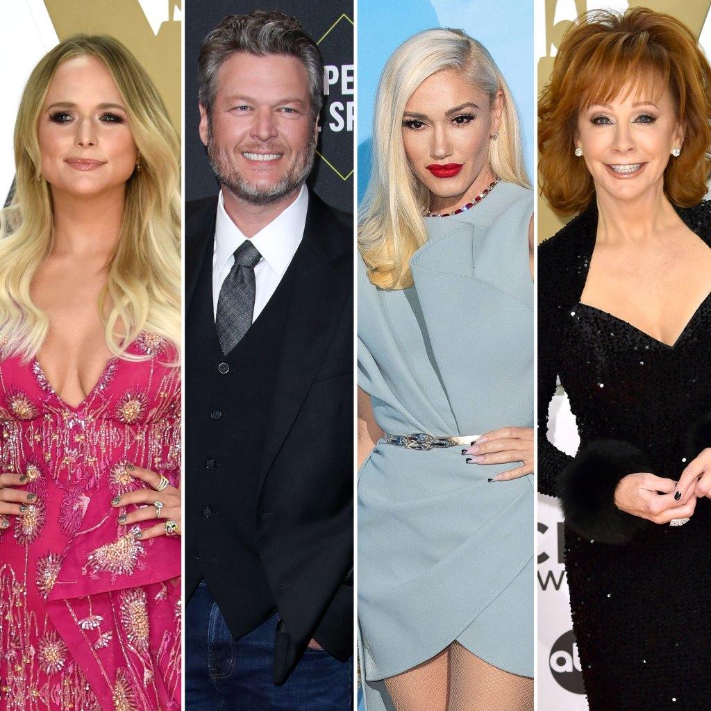Miranda Lambert Blake Shelton Gwen Stefani Reba McEntire 2019 CMA Awards