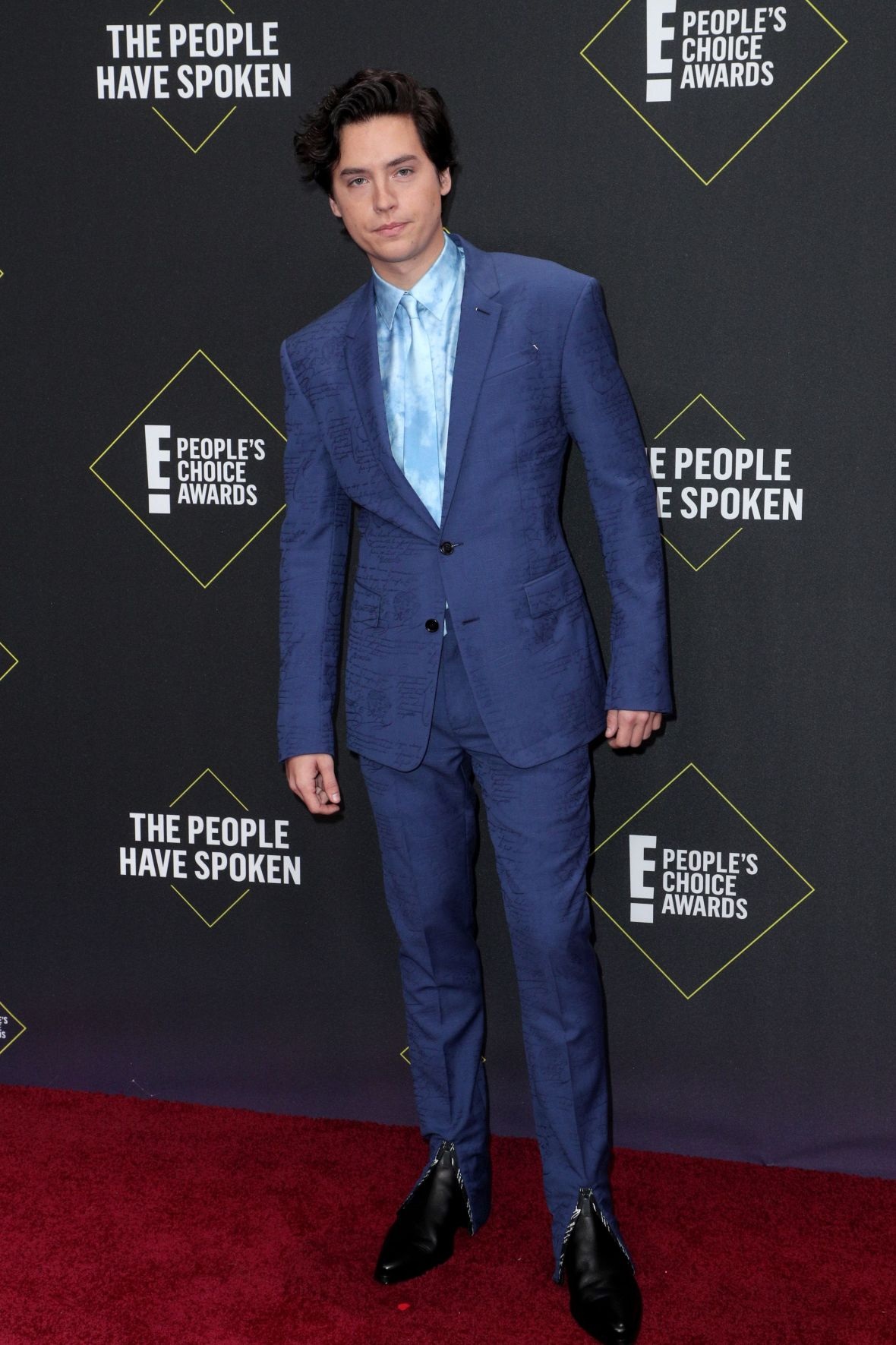 Cole Sprouse in a Blue Suit