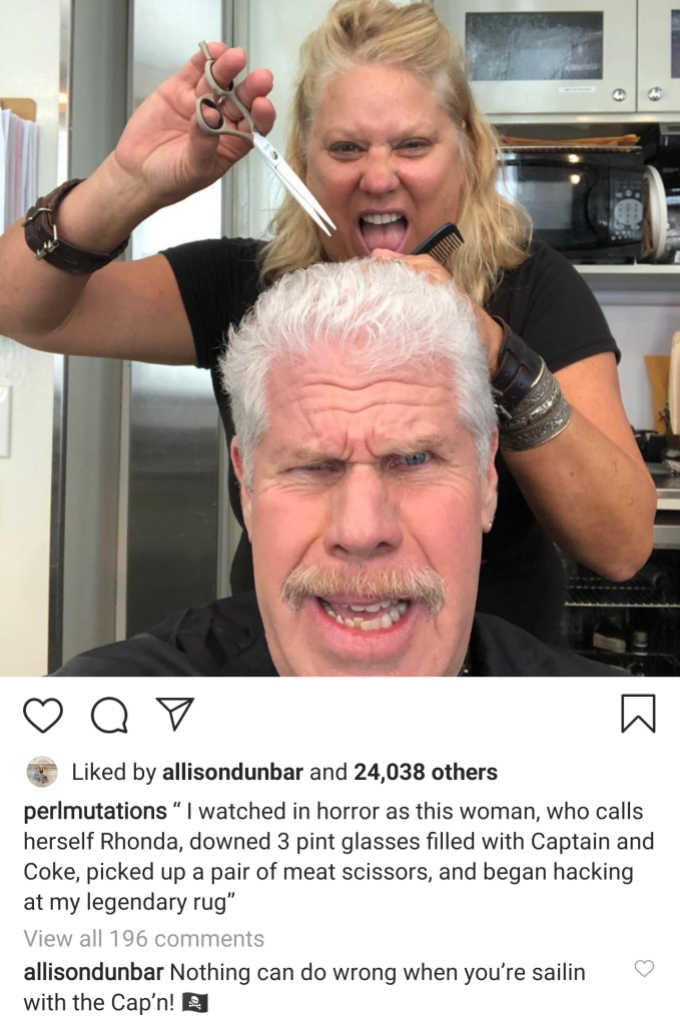 Ron Perlman Likes Steamy Pics of Allison Dunbar in the Month Leading Up to Divorce Filing