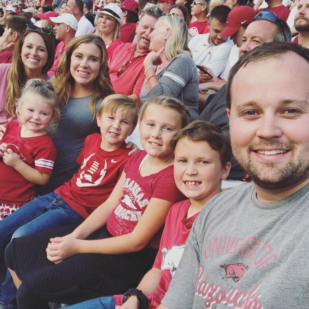 Josh Duggar and Family at Football Game