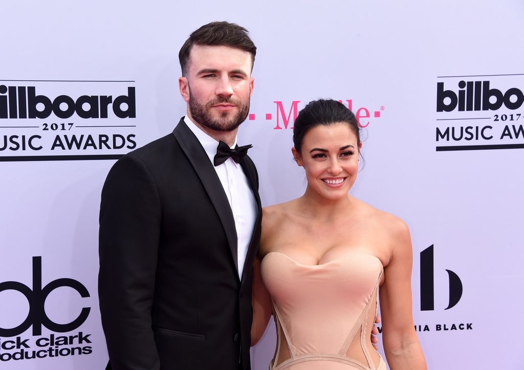 Sam Hunt Wearing a Tuxedo With Wife Hannah Lee Fowler