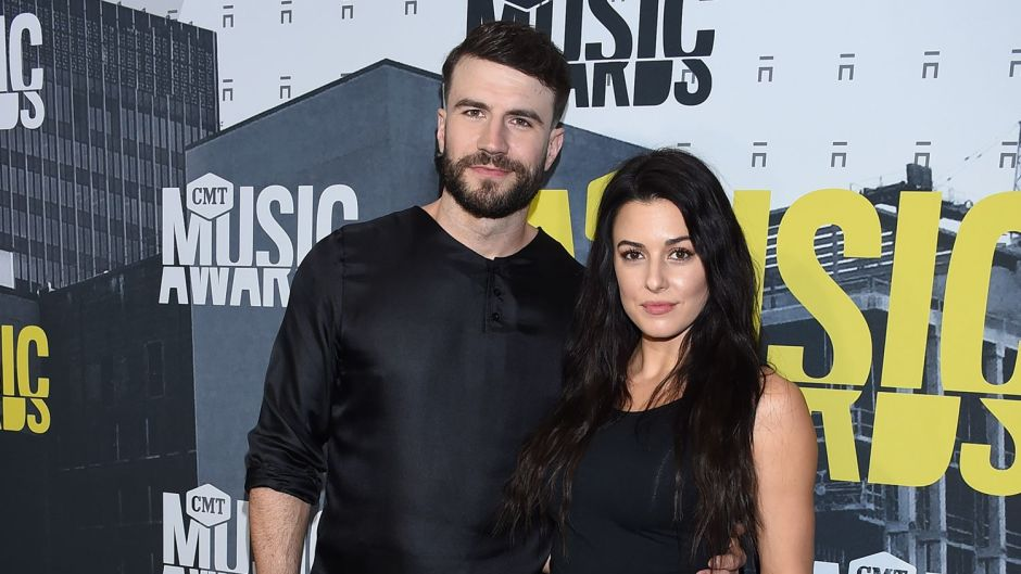 Sam hunt Wearing All Black With His Wife Hannah Lee Fowler