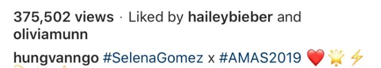 Selena Gomez and Hailey Baldwin on IG