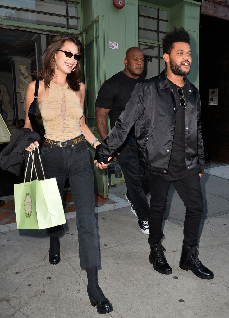 Bella Hadid Wearing Sunglasses With The Weeknd