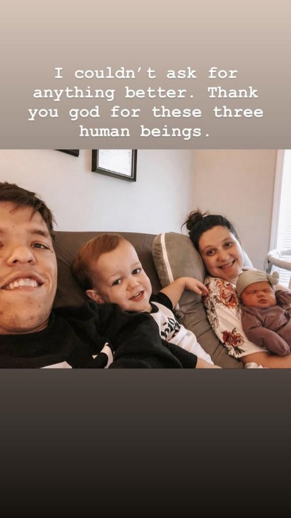 Tori Rolloff , Jackson and Zach Roloff and newborn Lilah