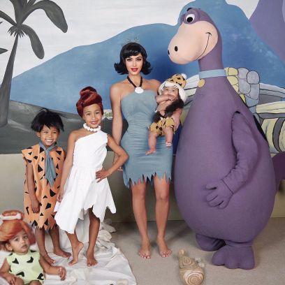 Kim Kardashian Gets Roasted for Photoshopping Chicago Into Flinstones Halloween Photo