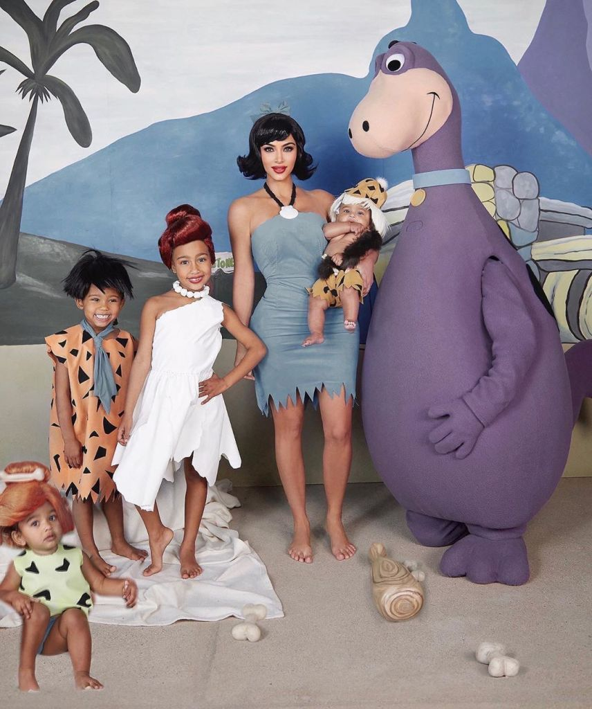 Kim Kardashian Gets Roasted for Photoshopping Chicago Into Flinstones Halloween Photo