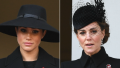 meghan markle, kate middleton, prince harry, prince william attend remembrance sunday service together