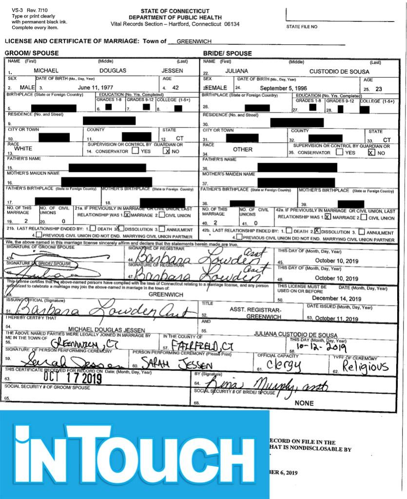 90 day fiance michael jessen juliana custodio marriage certificate