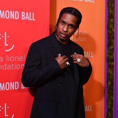 ASAP Rocky Wearing a Black Suit
