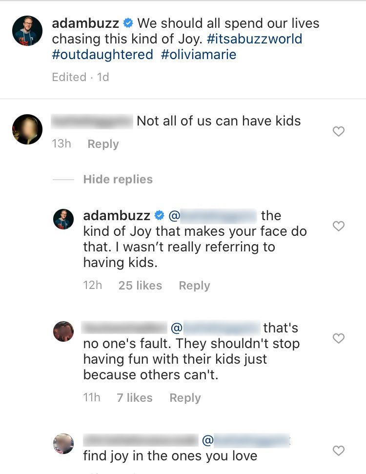 Adam Busby Responds After Someone Thought He Made an Insensitive Comment About Having Kids