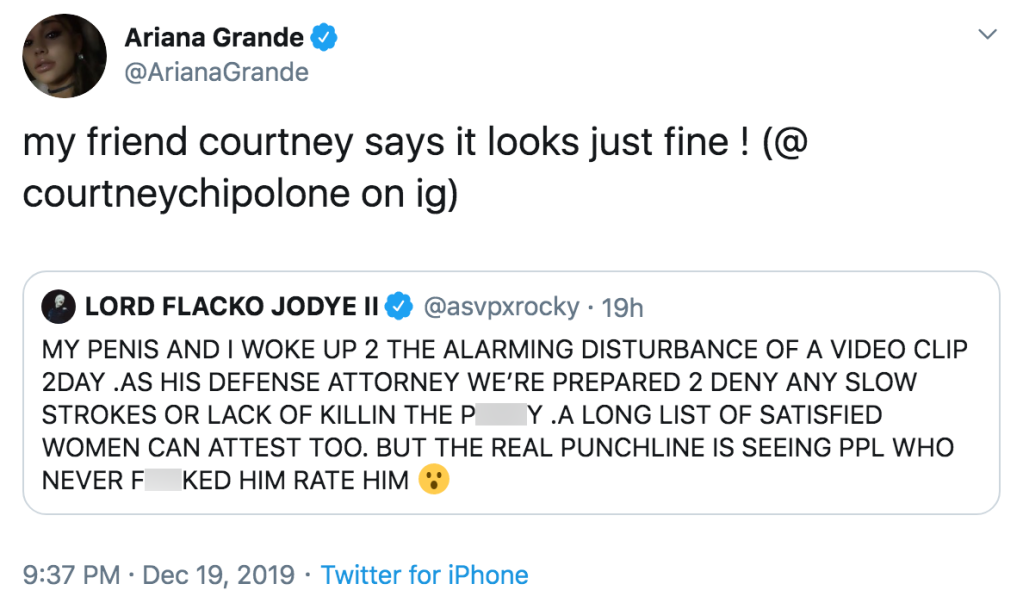 Ariana Grande Wants to Hook Up Courtney Chipolone and ASAP Rocky After Sex Tape Drama