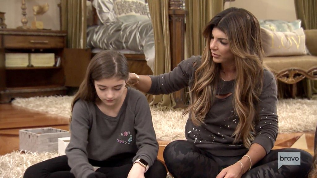 Teresa Guidice Youngest Daughter Audriana Struggles Remember Dad Joe