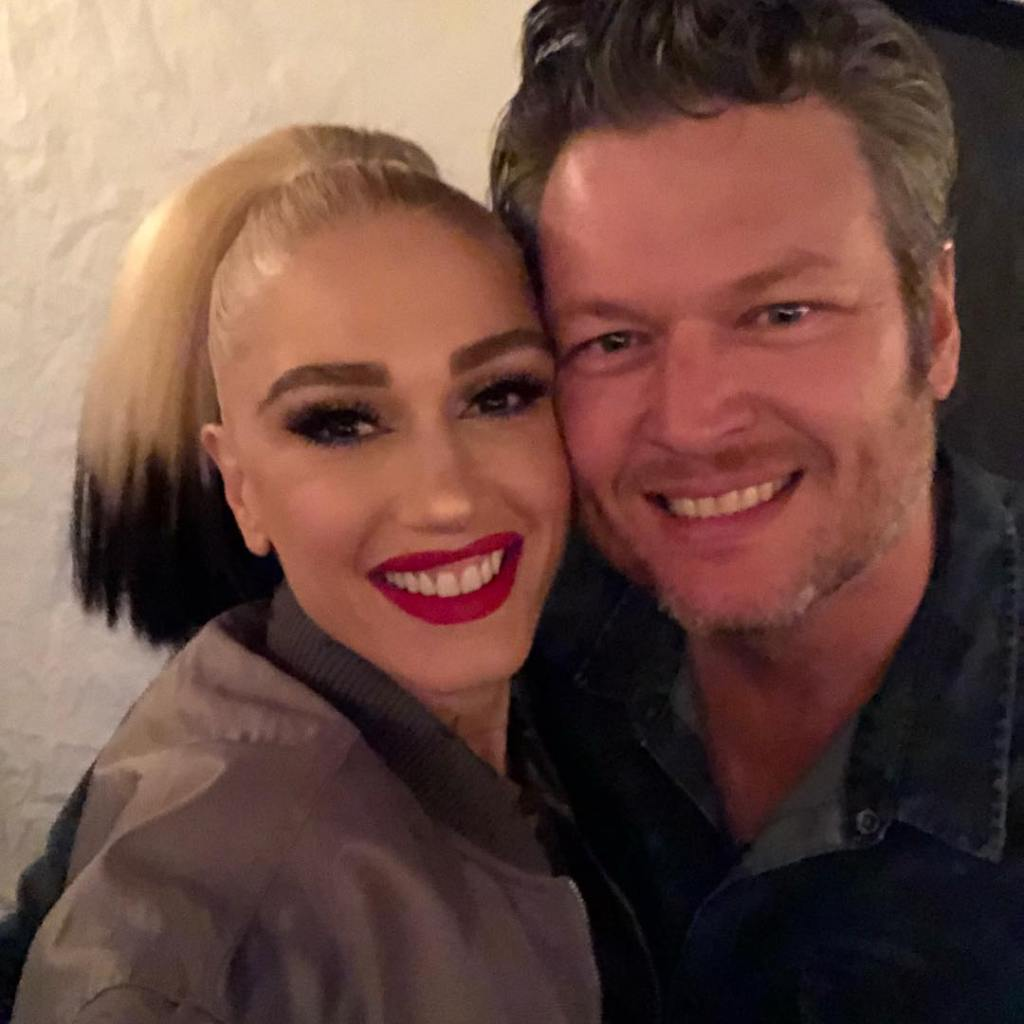 Gwen and Blake Smiling for a Selfie Together