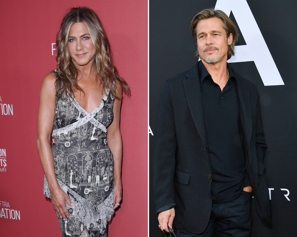 Side-by-Side Photos of Jennifer Aniston and Brad Pitt