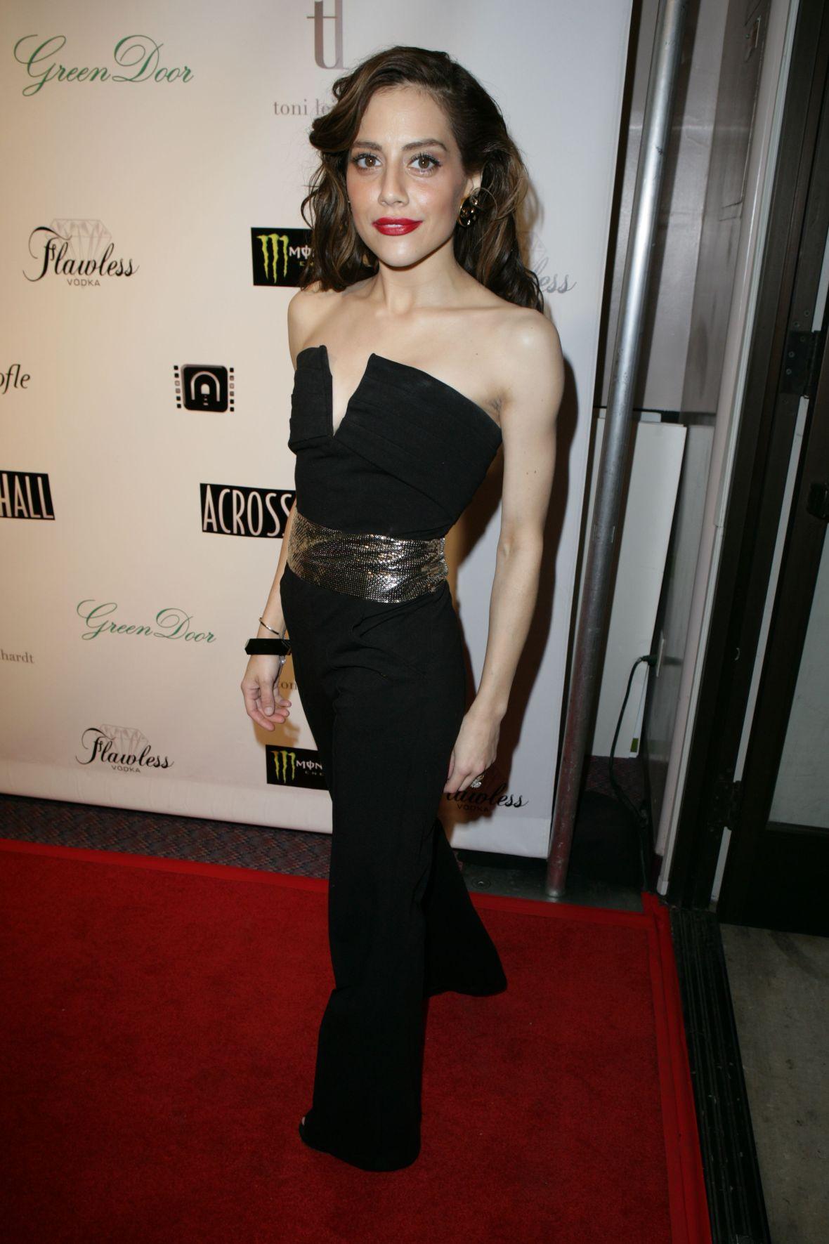 Brittany Murphy Wearing a Black Dress