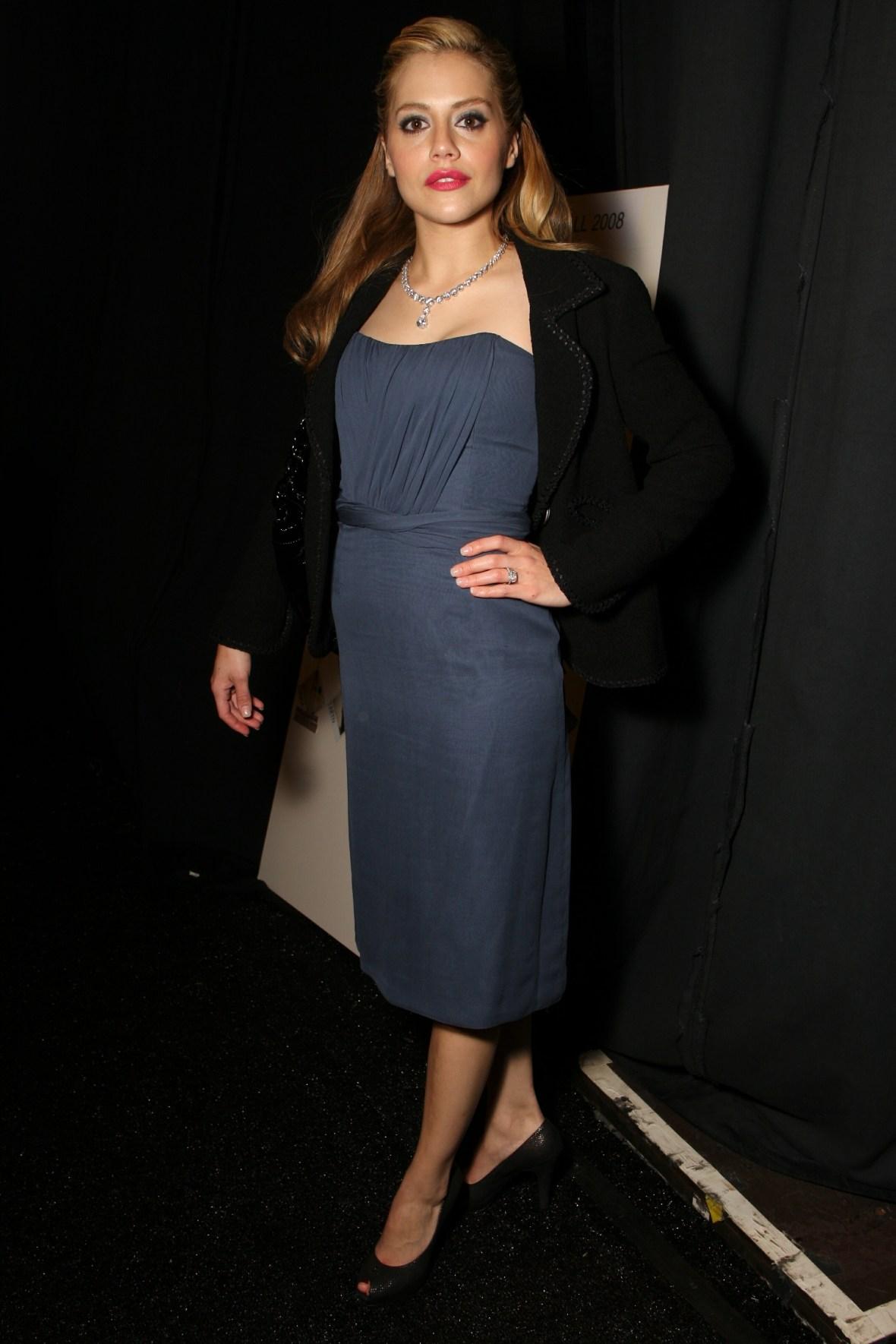 Brittany Murphy Wearing a Dress