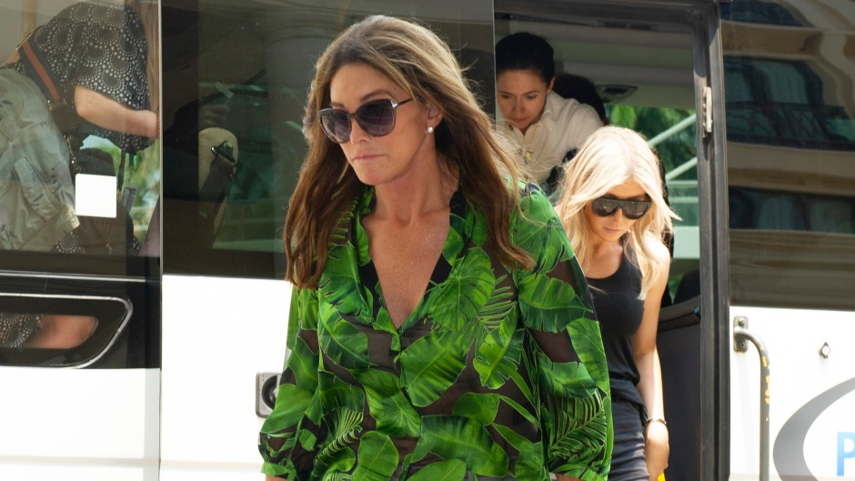 Caitlyn Jenner Wearing a Green Shirt With Sopha Hutchins