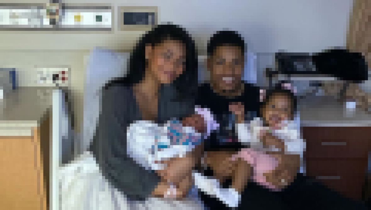 Chanel Iman and Sterling With Their New Baby