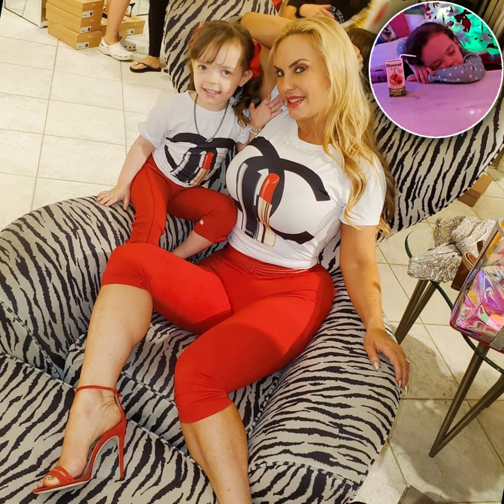 Coco Austin's Daughter Chanel Nods Off While Drinking a Juice Box