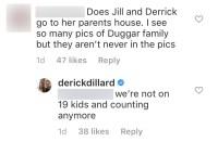 Derick Dillard Says He and Jill Duggar Aren't on the Show Anymore