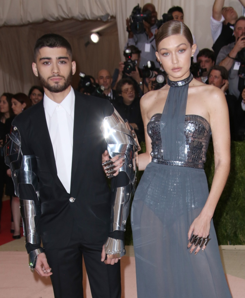 Gigi Hadid Wearing a Purple Outfit With Zayn Malik