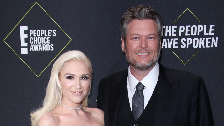 Gwen Stefani Wears Sneakers With Blake Shelton's Face on Them While Listening to Their New Duet