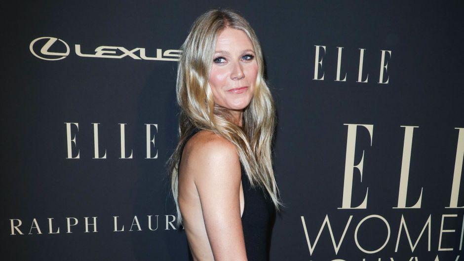 Gwyneth Paltrow in Black Dress on Red Carpet
