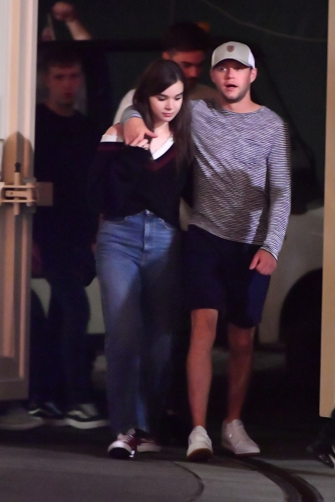 Hailee Steinfeld Wearing a Black Shirt With Niall Horan at Disneyland