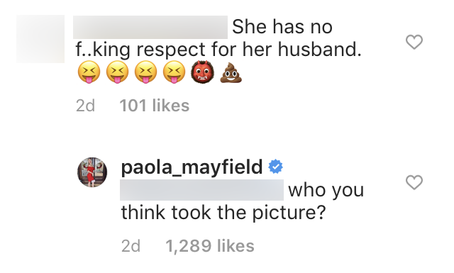 Paola Mayfield Claps Back at Hater After Posting Sexy Photo