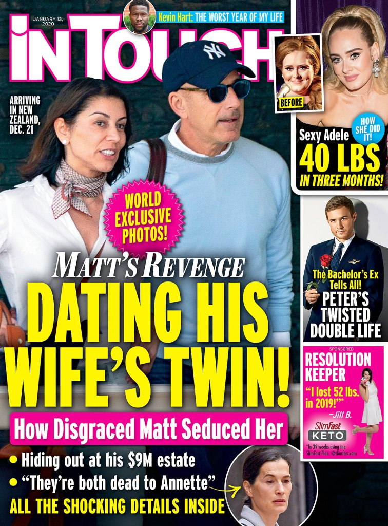 In Touch Cover Issue 2020 Matt Lauer Is Dating Ex-Wife Lookalike and Longtime Friend Shamin Abas