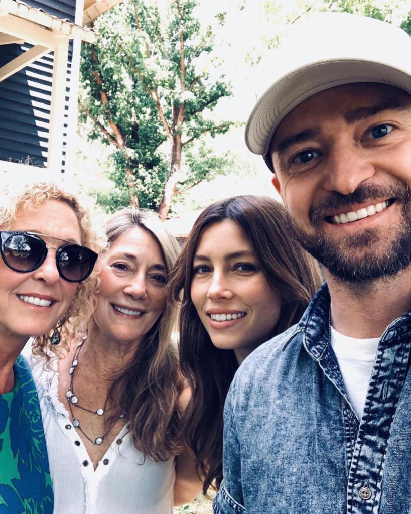 Justin Timberlake With His Mom and Jessica Biel