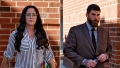 Side-by-Side Photos of Jenelle Evans and David Eason Outside of Court