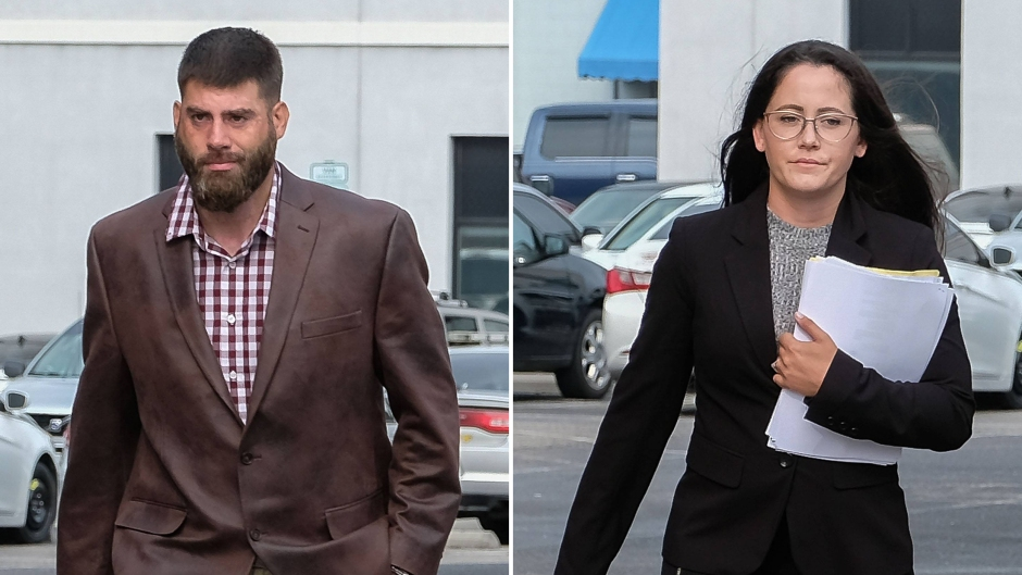 Side-by-Side Photos of Jenelle Evans and David Eason Leaving Court
