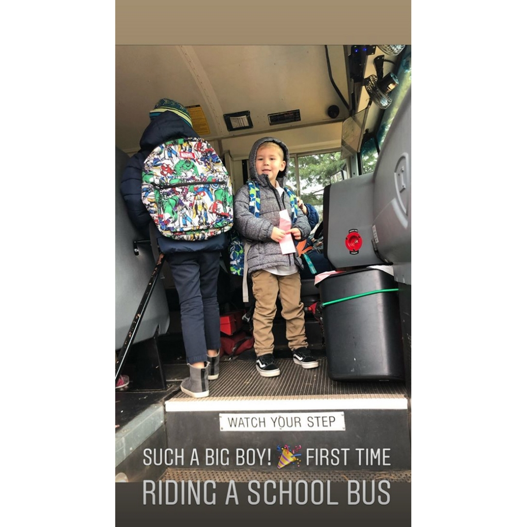 Jenelle-Evans'-Son-Kaiser-Rides-the-School-Bus-for-the-First-Time