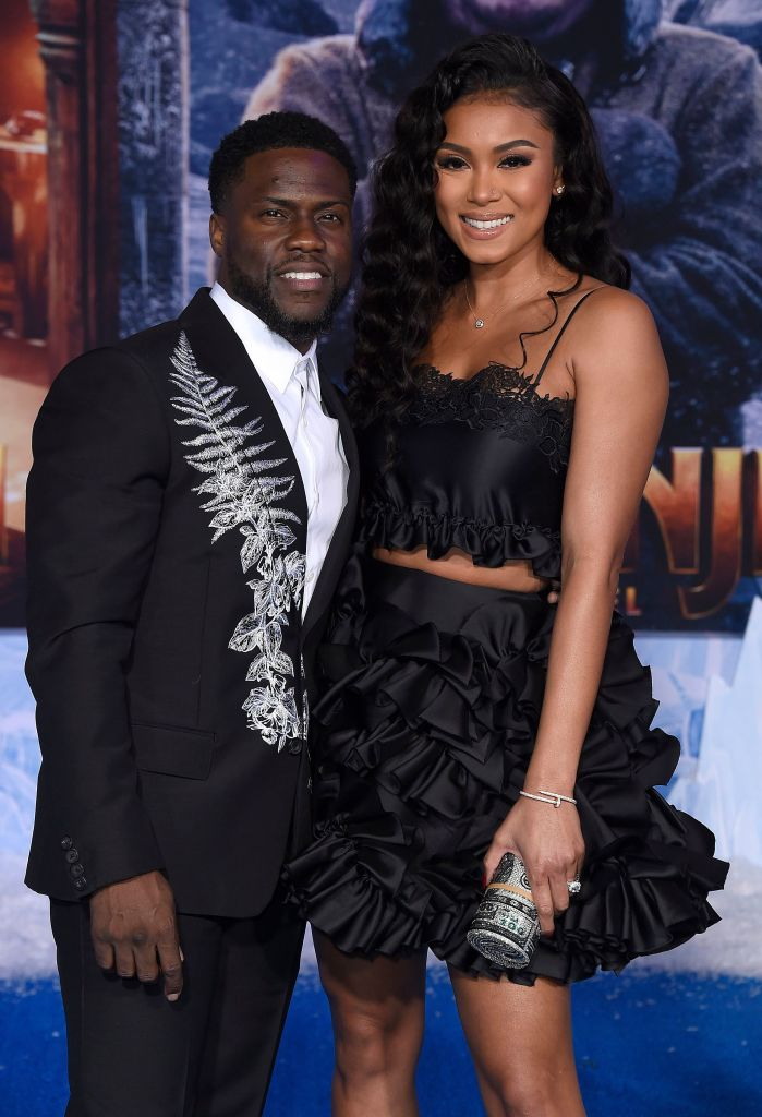 Kevin Hart With Eniko Hart at a Premiere