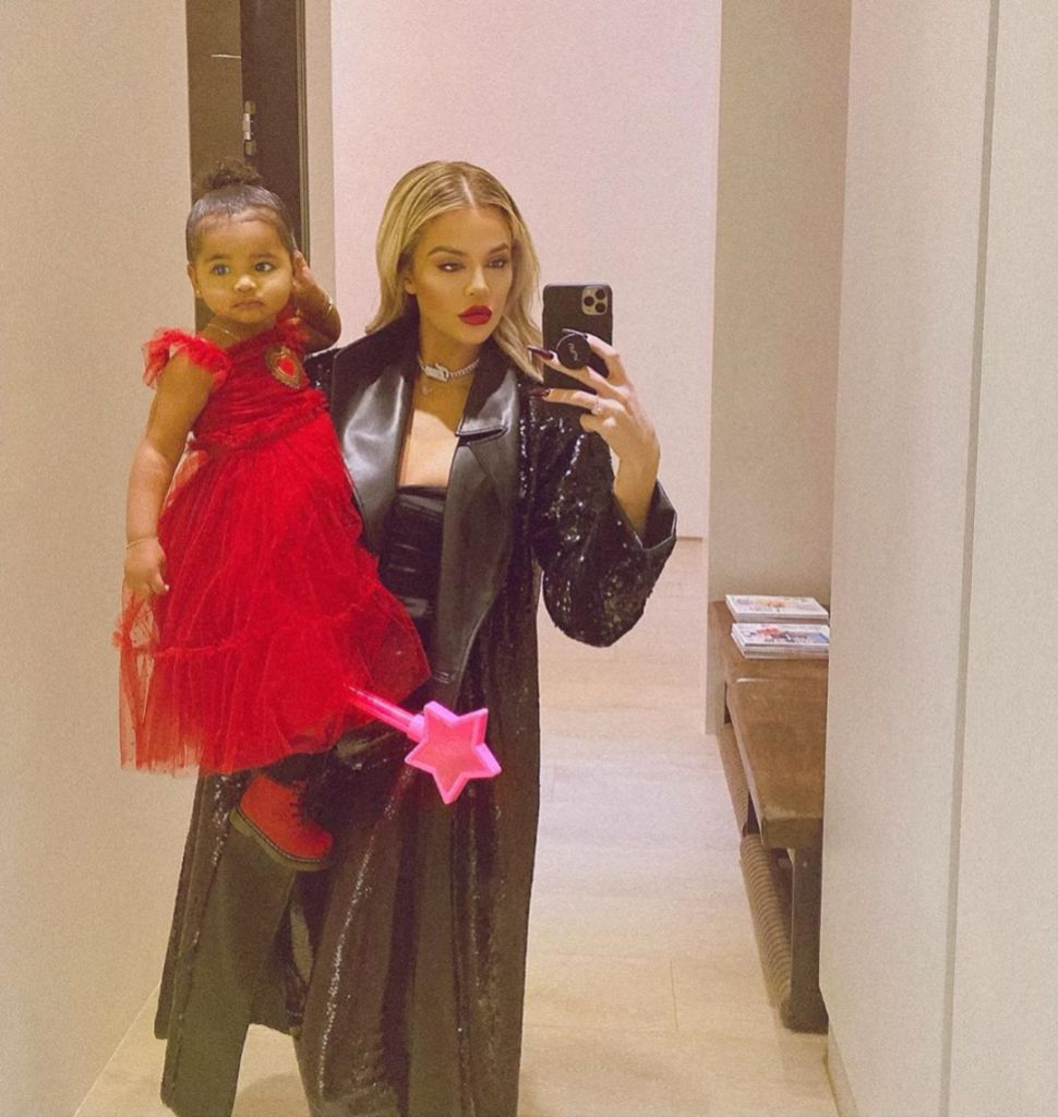 Khloe Kardashian Holding Onto Daughter True Thompson