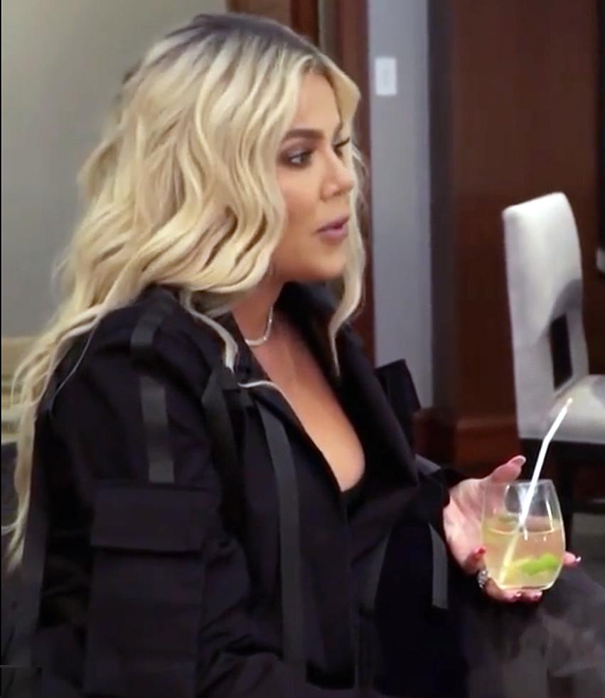 Khloe Kardashian Holding Drink